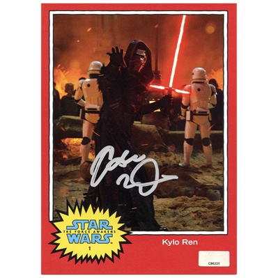 Adam Driver Autographed Star Wars The Force Awakens Kylo Ren 5x7 Trading Card