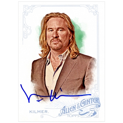 Val Kilmer Autographed Topps Allen & Ginter Trading Card #328