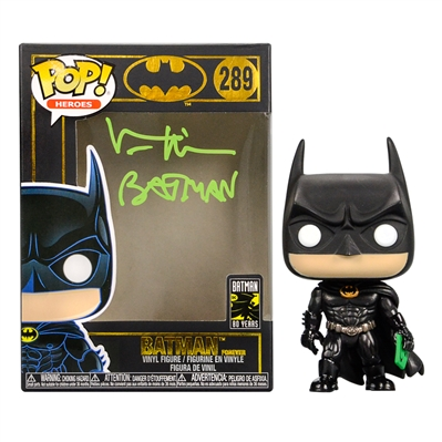 Val Kilmer Autographed Batman Forever POP Vinyl #289 with Batman Forever Inscription