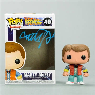 Michael J. Fox Autographed Back to the Future Marty McFly POP Vinyl Figure #49