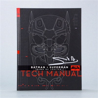 Gal Gadot Autographed Batman vs Superman Tactical Manual Guide