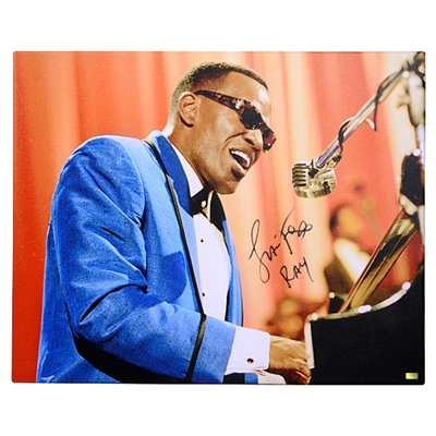 Jamie Foxx Autographed Ray 16x20 Ray Charles Academy Award Canvas Gallery Edition