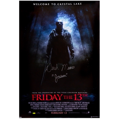 Derek Mears Autographed 2009 Friday The 13th 27x39 Single-Sided Movie Poster