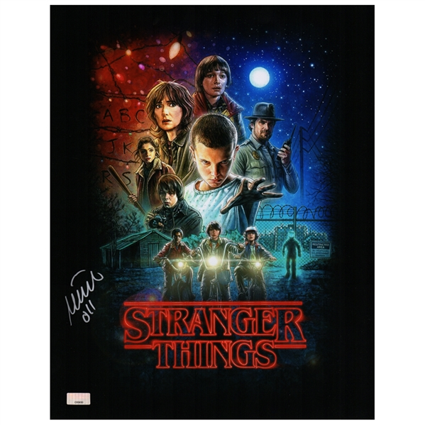 Millie Bobby Brown Autographed Stranger Things 11x14 Poster Art Photo