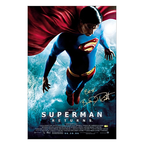 Brandon Routh Autographed Superman Returns Original 27x40 Double-Sided Final Movie Poster