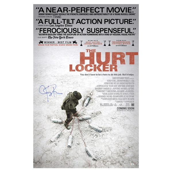 Jeremy Renner Autographed The Hurt Locker Original 27x40 Double-Sided Movie Poster