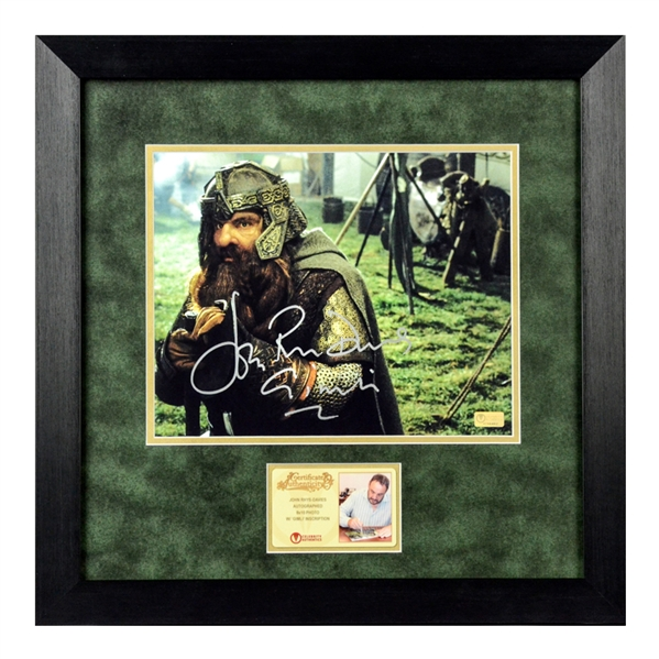 John Rhys-Davies Autographed Lord of the Rings Gimli 8x10 Framed Photo