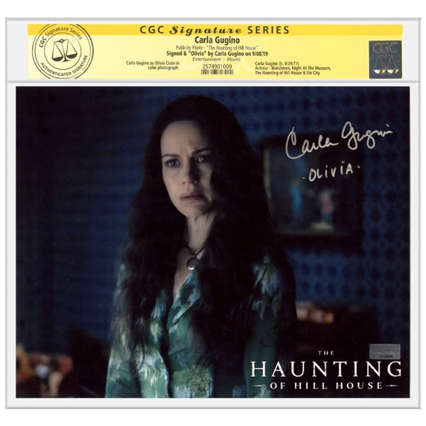 Carla Gugino Autographed The Haunting of Hill House Olivia 8x10 Photo * CGC SS