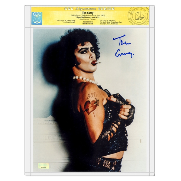 Tim Curry Autographed 1975 The Rocky Horror Picture Show Frank-N-Furter 8x10 Photo *CGC SS