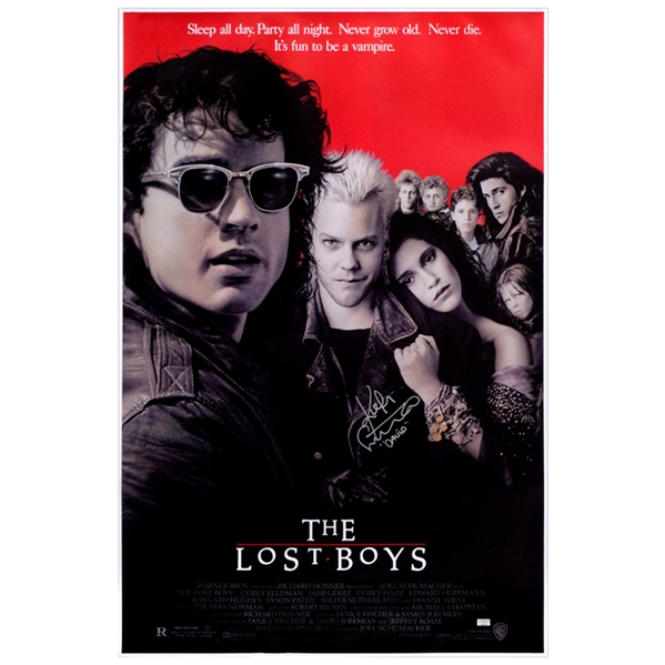 Kiefer Sutherland Autographed The Lost Boys 24x36 Single-Sided Movie Poster