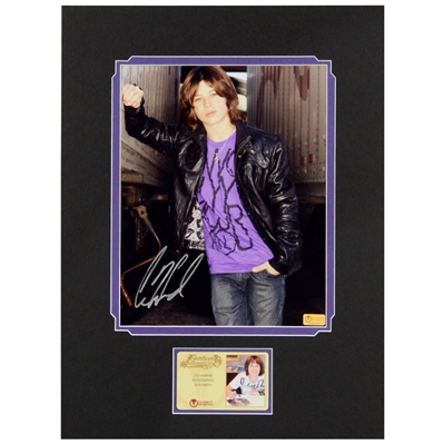 Leo Howard Autographed Leather Jacket 8x10 Matted Photo