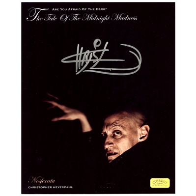 Christopher Heyerdahl Autographed 8x10 Are You Afraid of the Dark Nosferatu Photo