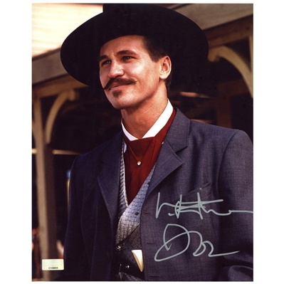 Val Kilmer Autographed Tombstone Doc Holliday 8x10 Photo