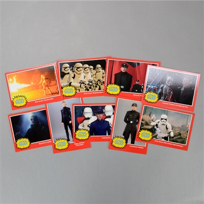Star Wars: The Force Awakens Trading Card Set (Lot of 9)