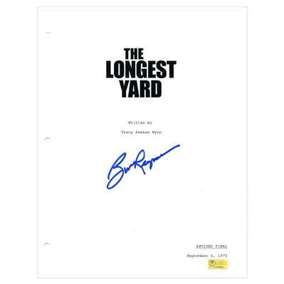 Burt Reynolds Autographed 1974 The Longest Yard Script Cover