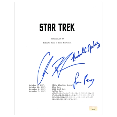Chris Hemsworth, Rachel Nichols, Simon Pegg Autographed Star Trek Script Cover