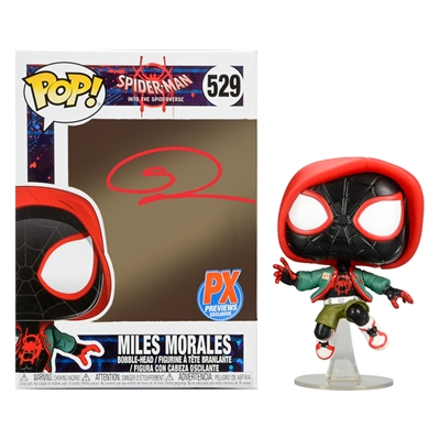 Shameik Moore Autographed Spider-Man Into The Spider-Verse Miles Morales POP Vinyl #529 Rare Previews Exclusive
