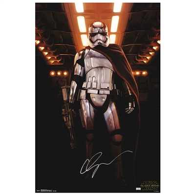 Gwendoline Christie Autographed 2015 Star Wars: The Force Awakens Captain Phasma 22.5×34 Single-Sided Poster