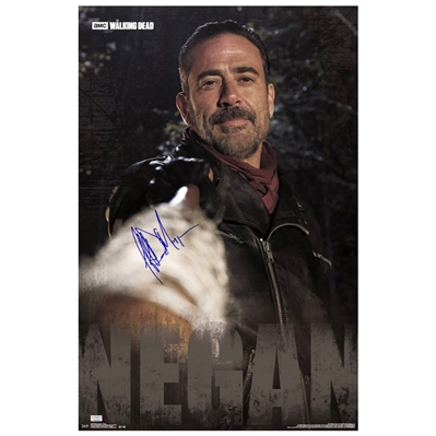 Jeffrey Dean Morgan Autographed The Walking Dead Negan 22×34 Single-Sided Poster